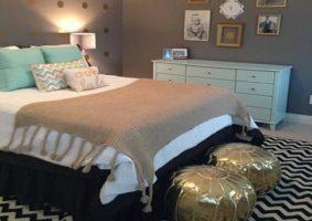 Yatak Odasının Metalik Renklerle Dekorasyonu (Osmanlı Şıklığı)